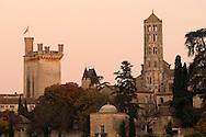 France, Languedoc Roussillon, Gard (30), Uzège, Uzès, tour Fenestrelle, Duché, tour Bermonde, pavillon Racine