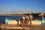 Men in Playas del Este, Havana, Cuba.