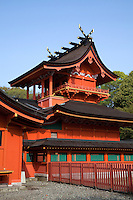 Fujisan-Hongu Sengen-taisha is well known as the headquarters for over 1,300 Sengen shrines nationwide.  The object of worship at this shrine is Mt. Fuji - the highest mountain in Japan still believed to be sacred.  People venerate this shrine as a guardian deity for disaster prevention, navigation, fishing, agriculture and weaving.