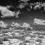 Mormon Rocks - Snow Covered Stream Bed - HDR - Infrared Black & White