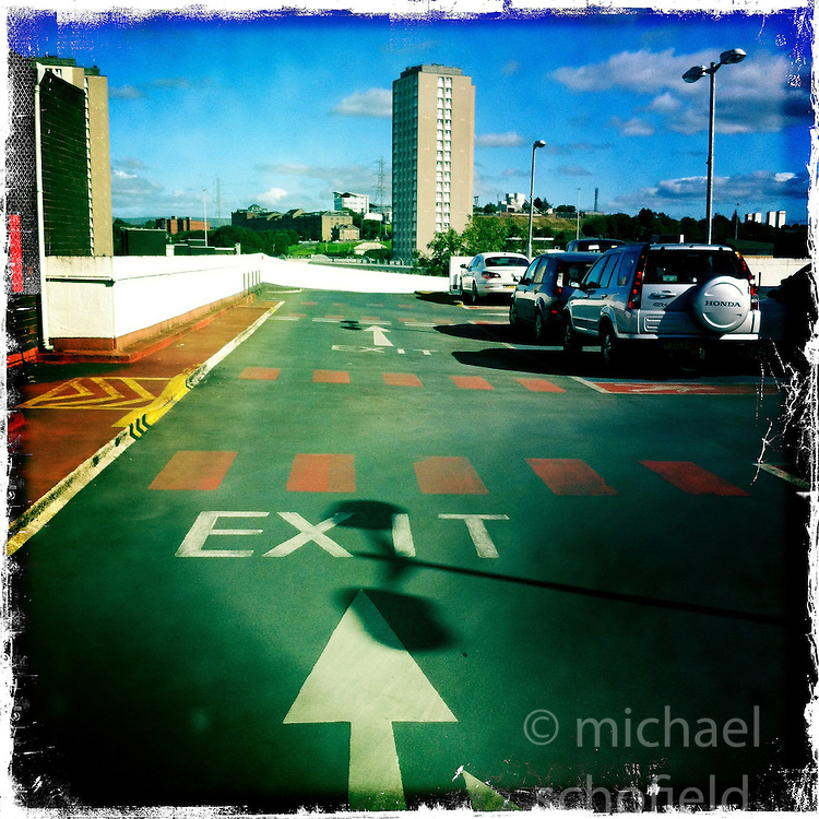 Glasgow car park..Hipstamatic images taken on an Apple iPhone..©Michael Schofield.