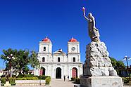 Iglesia San Fulgencio de Gibara and park.