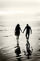 26 November 2013:  Jason Garrison and Jena Davis at the Huntington Beach Pier