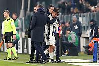 can - 25.01.2017 - Torino - Coppa Italia Tim  -  Juventus-Milan nella  foto: Paulo Dybala abbracciato da Allegri all'uscita dal campo
