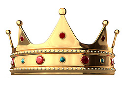 A king's golden crown on a white background. Includes Clipping Path!!