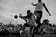 The Good Man Basketball Tournament in Washington D.C. on July 19, 2007 offers a positive escape for the residents of Barry Farms housing project. The tournament lasts for several weeks during the summer and sometimes features NBA players.