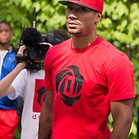 12 July 2013: Chicago Bulls superstar Derrick Rose is seen during Adidas' D Rose tour,  in Paris, France.
