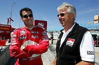 Sam Hornish Jr. and Rick Mears at the Homestead-Miami Speedway, Toyota Indy 300, March 6, 2005