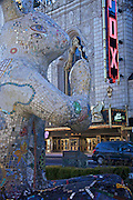 Photo by Leandra Lewis of Earth Rabbit sculpture on Grand Avenue across the street from Fox Theatre in St. Louis, Mo.