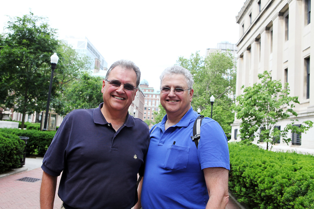 Richard Canzonetti '73 (left).David Canzonetti '71