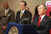 29 November 2010- New York, NY- Mayor Michael Bloomberg at the ' Stat! For NYC's Public Hospitals! ' Press Conference held at Kings County Hospital on November 29, 2010 in Brooklyn, NY. Photo Credit: Terrence Jennings