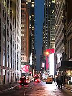 Morning on the street of Manhattan.