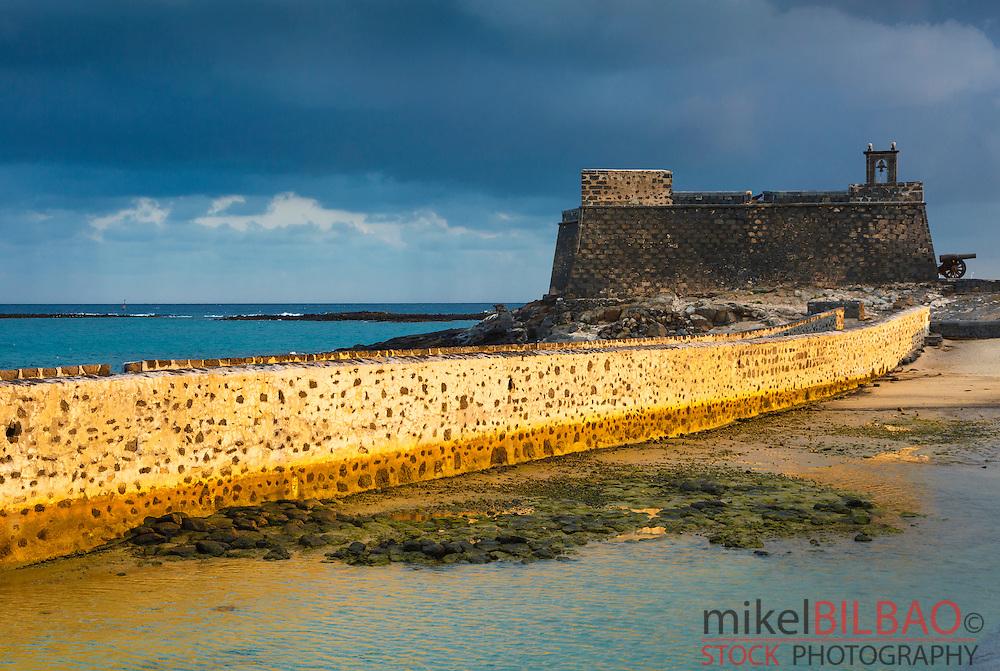 Castle of San Gabriel. Arrecife. Lanzarote, Canary Islands, Spain, Europe.