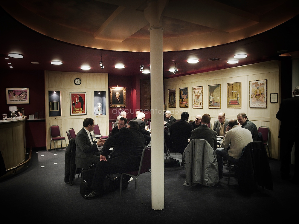 Members of The Magic Circle socializing in the Club room at the HQ.