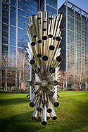 luke jerram exhibition, london, canary wharf, england, uk, art, artist, sound scuplture, metal
