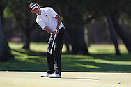 CAPE TOWN, SOUTH AFRICA, Monday 27 February 2011, Daniel Kay of Scotland, putts for birdie on the 18th during the Sanlam SA Amateur Championship held at the Mowbray Golf Club..Photo by Roger Sedres/ImageSA