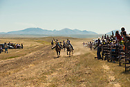 Fort Belknap Indian Reservation, Montana, Milk River Memorial Horse Races, Womens Two Mile Race.