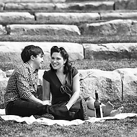 Engagement photos of Genna Hughes and Jon Pianki in Indianapolis, Indiana.