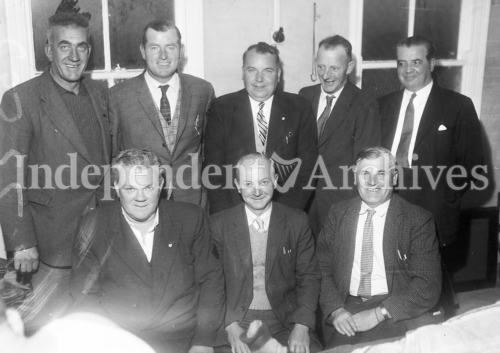 R3355 Wexford Hurling Team Special. Group of Eight. 27/08/1962. (Part of Independent Newspapers Ireland/NLI Collection)