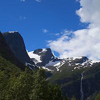 Europe, Norway, Olden. Jostedalsbreen National Park.