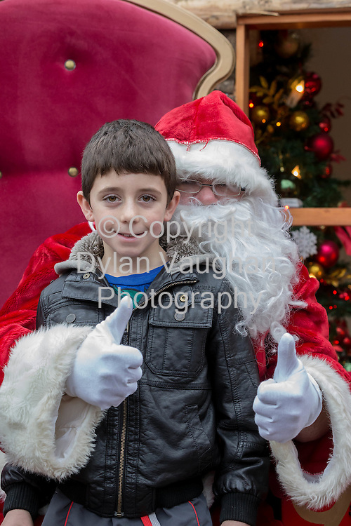 Repro Free no charge for repro<br /> 29-11-14<br /> TJ Darcy aged 8 pictured with Santa Claus at the Arboretum &quot; Your Home and Garden Heaven&quot; in Carlow over the weekend.<br /> <br /> <br />  Picture Dylan Vaughan.