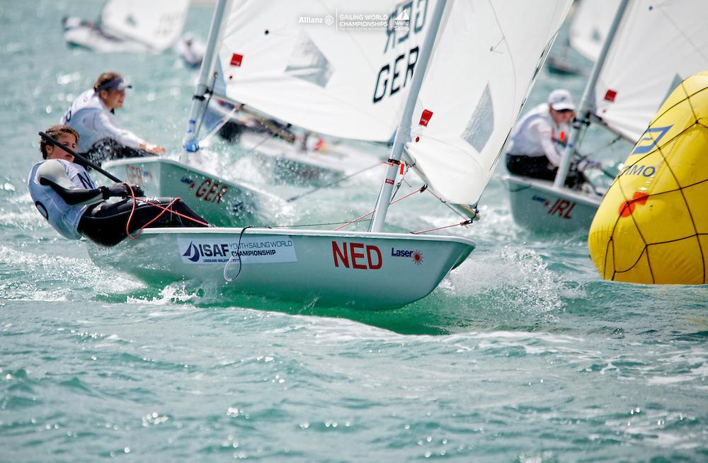 NetherlandsLaser RadialWomenHelmNEDMA3MirtheAkkerman<br />Day3, 2015 Youth Sailing World Championships,<br />Langkawi, Malaysia