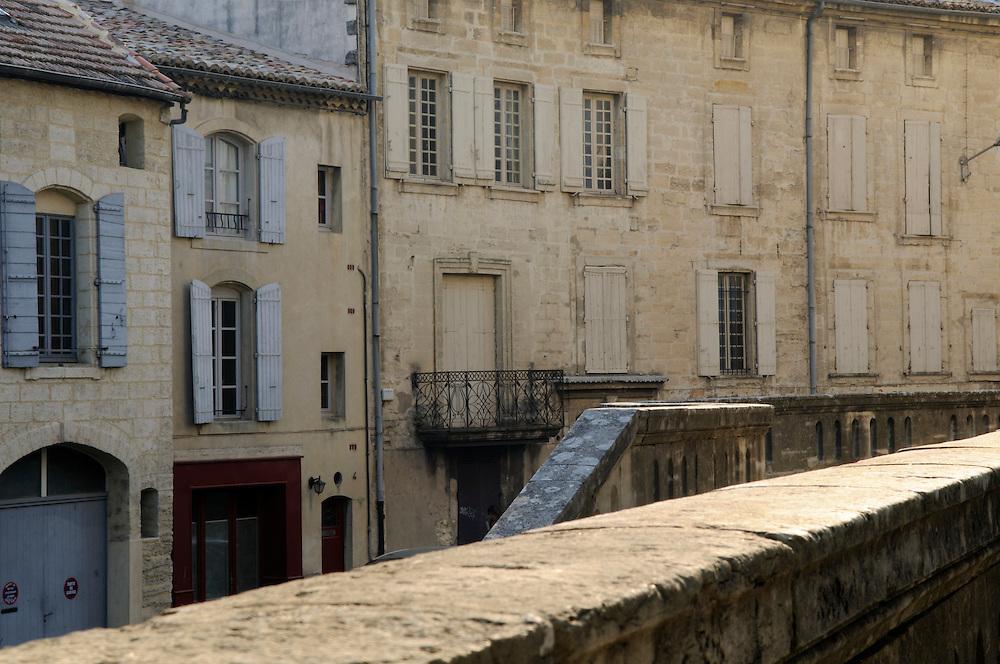 France, Languedoc Roussillon, Gard (30), Uzès, Plan St. Etienne et Bd. Victore Hugo