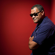 Actor Laurence Fishburne poses for a portrait at the Kennedy Center in Washington, DC, on May 27, 2010.