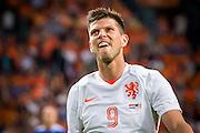 AMSTERDAM - Nederland - USA , Amsterdam ArenA , Voetbal , oefeninterland , 05-06-2015 , Nederlands elftal speler Klaas Jan Huntelaar baalt van gemiste kans