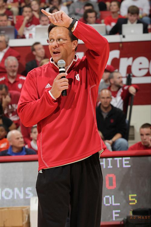 20 October 2012:  Indiana head coach Tom Crean as the Indiana Hoosiers held their season opening Hoosier hysteria event in Bloomington, Ind.