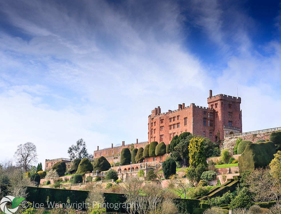 Powis Castle was built around 1200, with alterations to the structure taking place over the next 400 years. It is located in Welshpool, Powys.