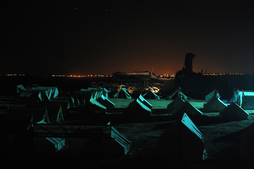 Photo taken on January 27, 2009, of tents erected by Hamas for displaced Palestinians at the Ezbet Abd Rabbo neighbourhood in the Jabalia refugee camp, northern Gaza Strip. Human Rights Watch appealed for the UN to set up an independent probe of alleged violations of the laws of war by both Israel and Hamas during their recent Gaza conflict.