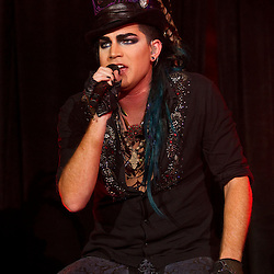 American Idol musician Adam Lambert performs in concert on stage after the Tampa Bay Rays Major League Baseabll American League baseball game in St. Petersburg, Florida September 18, 2010. Photo/Scott Audette