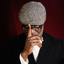 "Eric Ebouaney's portrait during Brussels' Festival des Cinemas Africains (African Film Festival). He was one of the actors in ""Africa Paradis"". Commune d'Ixelles, Brussels. April 4, 2009. Photo : Antoine Doyen"