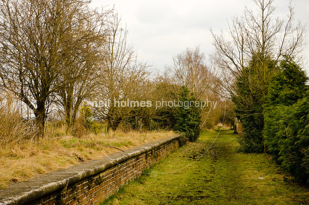 Former railway line now a footpath, Holme on Spalding Moor