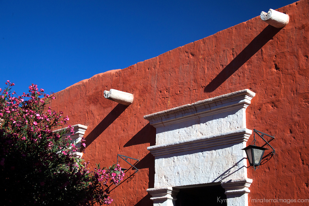 South America, Peru, Arequipa. Silence Yard at Monasterio de Santa Catalina.