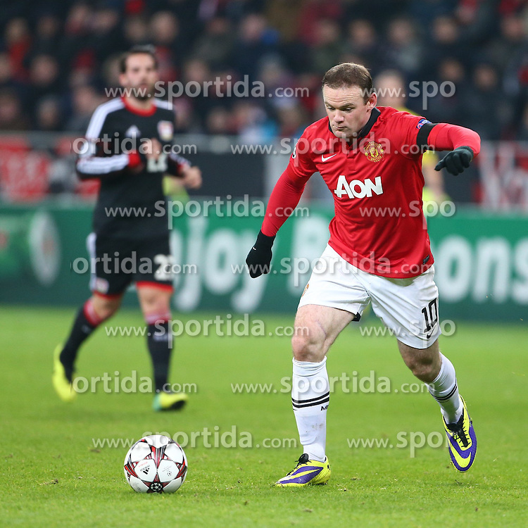 27.11.2013, BayArena, Leverkusen, GER, UEFA CL, Bayer Leverkusen vs Manchester United, Gruppe A, im Bild Wayne Rooney (Manchester United), Freisteller, Aktion /Action // during UEFA Champions League group A match between Bayer Leverkusen vs Manchester United at the BayArena in Leverkusen, Germany on 2013/11/28. EXPA Pictures &copy; 2013, PhotoCredit: EXPA/ Eibner-Pressefoto/ Neis<br /> <br /> *****ATTENTION - OUT of GER*****