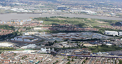 Image &copy;Licensed to i-Images Picture Agency. Aerial views. United Kingdom.<br /> Belmarsh prison facilities, located in the Thamesmead area of the Royal Borough of Greenwich, in south-east London. Picture by i-Images