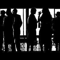 AT THE RACES, members socialising at Randwick racetrack before the start of a race, Sydney, Australia.