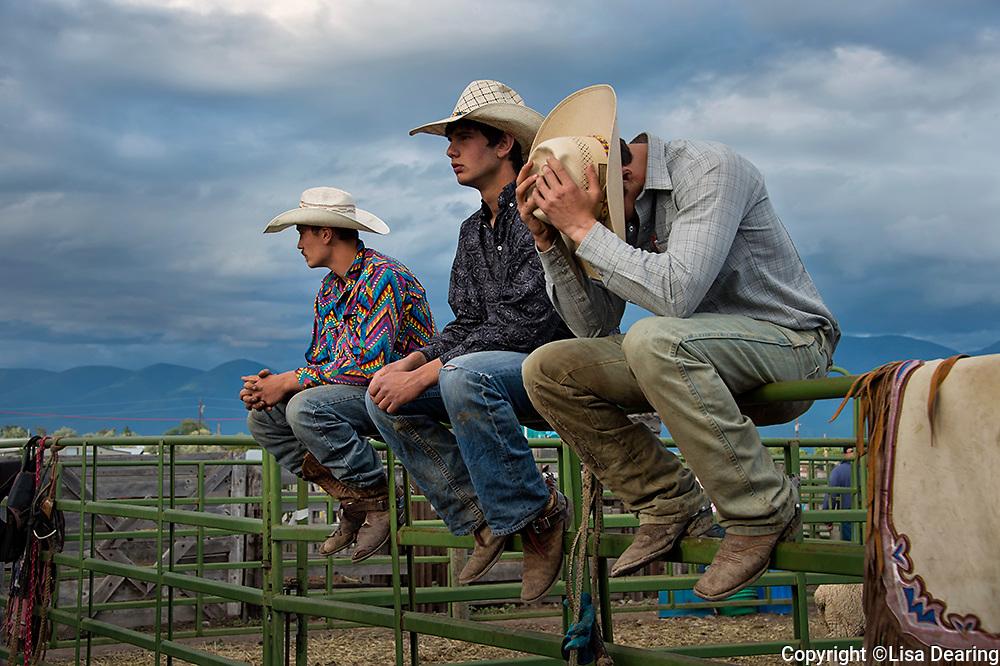 Three Boys at Rodeo, Montana