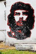 Image of Ernesto Che Guevara in Guaos, Cienfuegos, Cuba.