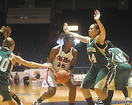 """Ole Miss' Pa'Sonna Hope (15) at the C.M. """"Tad"""" Smith Coliseum in Oxford, Miss. on Saturday, December 11, 2010."""