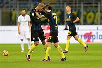 Milano - Serie A 2016/17 - 14a giornata - Inter-Fiorentina - Nella foto: Miranda e Marcelo Brozovic - Inter