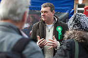 James Doyle, parliamentary candidate for the Green Party, meeting members of the public in Shoreham By Sea.