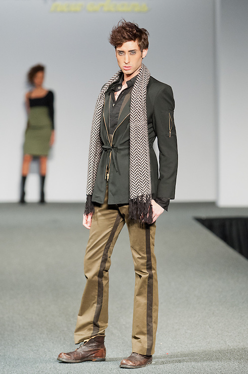Designer Kano Branon showed his collection at New Orleans Fashion Week, Louisiana