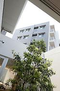 Exterior of 'Muji Village' apartment block building in Tsudanuma, Tokyo, Japan. Monday 26th April 2010.