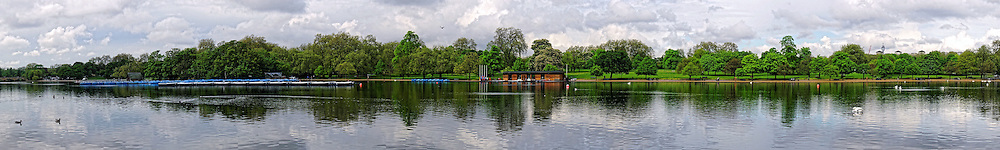 The Serpentine (also known as the Serpentine River) is a recreational lake in Hyde Park, London, England