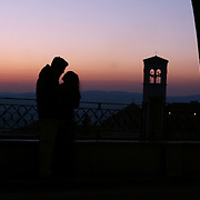 Lovers in Assisi, Italy.