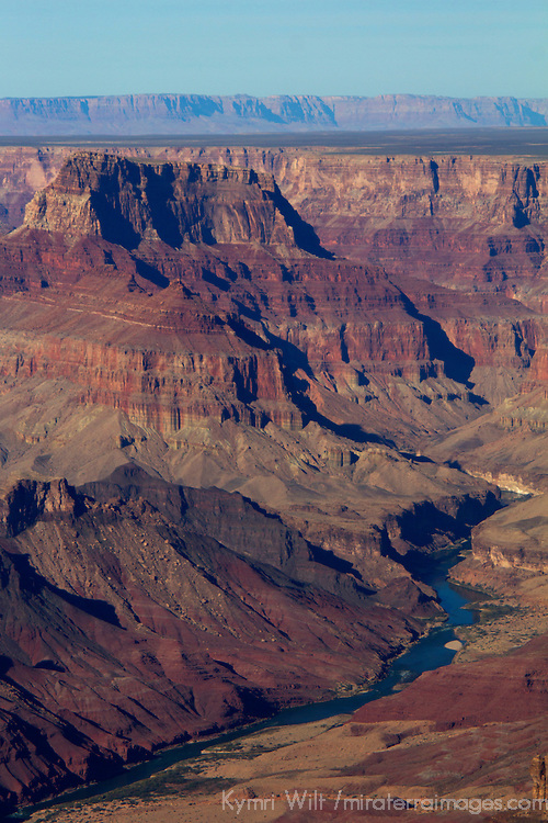 USA, Arizona, Grand Canyon. The Colorado River winding through the Grand Canyon.