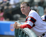 CHICAGO - APRIL 24:  Todd Frazier #21 of the Chicago White Sox looks on against the Texas Rangers on April 24, 2016 at U.S. Cellular Field in Chicago, Illinois.  The White Sox defeated the Rangers 4-1.  (Photo by Ron Vesely)   Subject: Todd Frazier